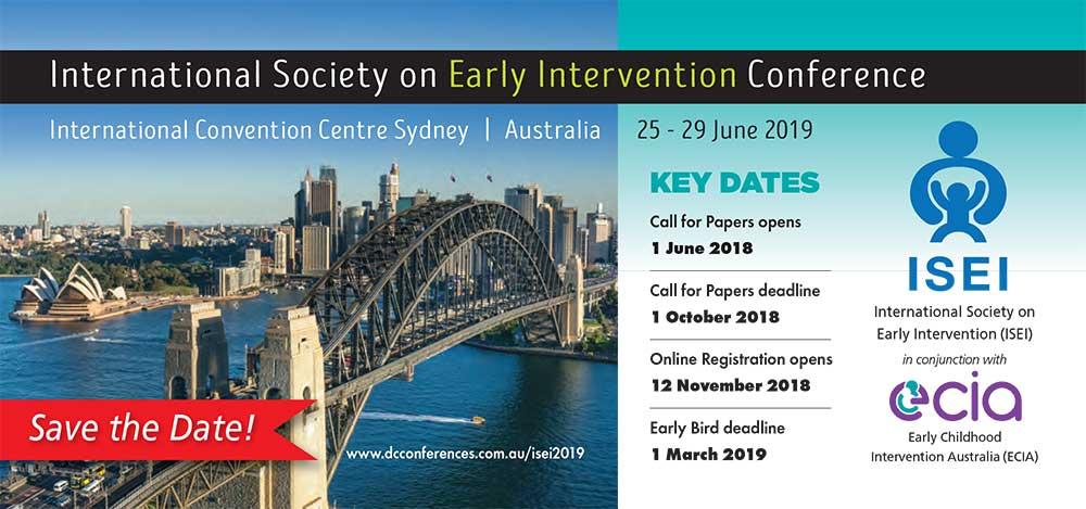 nternational Society on Early Intervention Conference 2019, Sydney